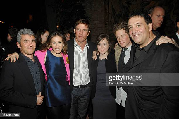 Daniel Battsek Sarah Jessica Parker Dennis Quaid Ellen Page Ashton Holmes and Noam Murro attend THE CINEMA SOCIETY LINDA WELLS host the after party...