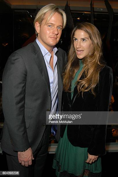 Daniel Benedict and Minnie Mortimer attend THE CINEMA SOCIETY and DIOR BEAUTY present the Premiere of BASIC INSTINCT 2 After Party at Mr Chow on...