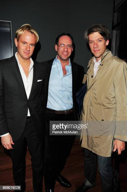 Daniel Benedict Andrew Saffir and Stephen Gaghan attend THE MINNIE MORTIMER Fall 2009 Collection Preview at Cooper Square Hotel Penthouse NYC on...