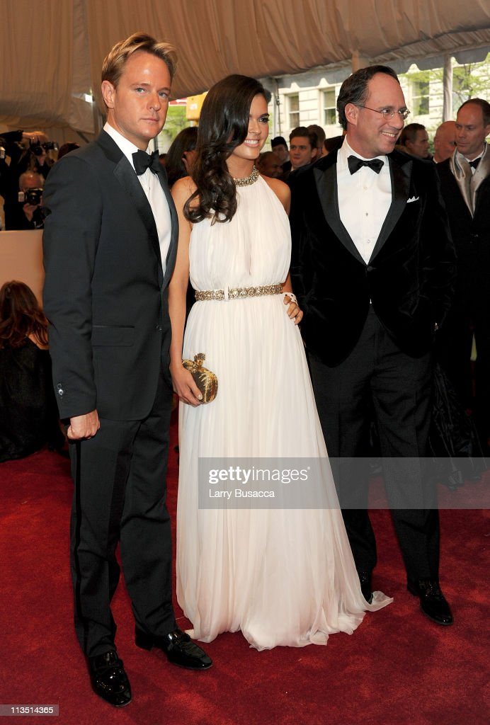 Daniel Benedict, Katie Lee and Andrew Saffir attend the 'Alexander McQueen: Savage Beauty' Costume Institute Gala at The Metropolitan Museum of Art on May 2, 2011 in New York City.