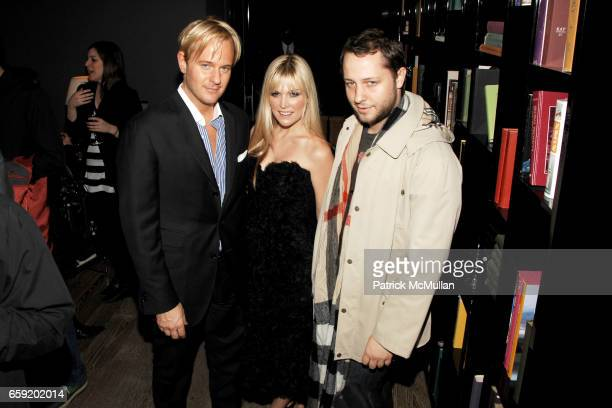 Daniel Benedict Tinsley Mortimer and Derek Blasberg attend THE CINEMA SOCIETY and SALVATORE FERRAGAMO host the after party for 'TWO LOVERS' at Cooper...