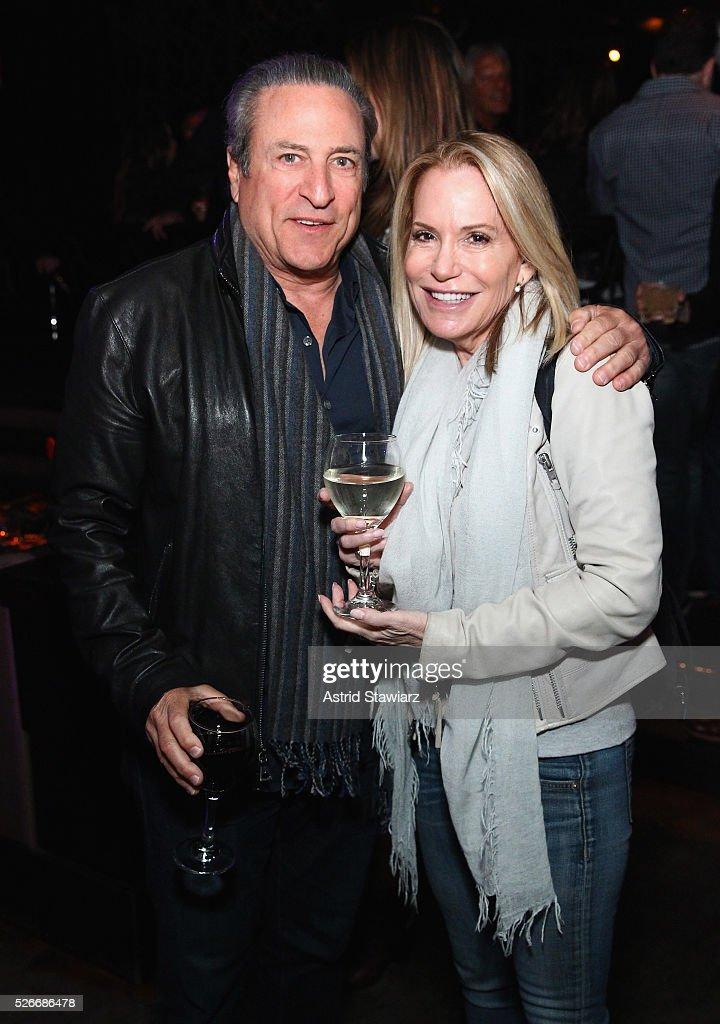 Daniel Berg and TV producer Amy Rosenblum attend an exclusive event with DuJour's Jason Binn and Nicole Vecchiarelli to celebrate the 'Steven Tyler...Out On A Limb' charity show benefitting Janie's Fund at LAVO on April 30, 2016 in New York City.