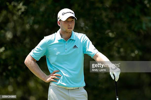 Daniel Berger hits off the seventh tee during the third round of the FedEx St Jude Classic at TPC Southwind on June 11 2016 in Memphis Tennessee