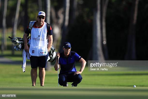 Daniel Berger of the United States looks on during the ProAm Tounament prior to the Sony Open In Hawaii at Waialae Country Club on January 11 2017 in...