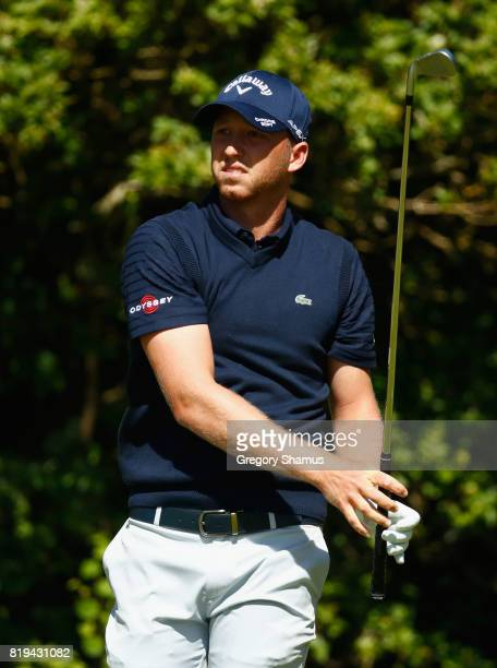 Daniel Berger of the United States tees off on the 5th hole during the first round of the 146th Open Championship at Royal Birkdale on July 20 2017...