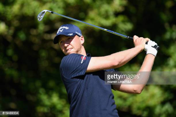 Daniel Berger of the United States tees off on the fifth hole during the first round of the 146th Open Championship at Royal Birkdale on July 20 2017...