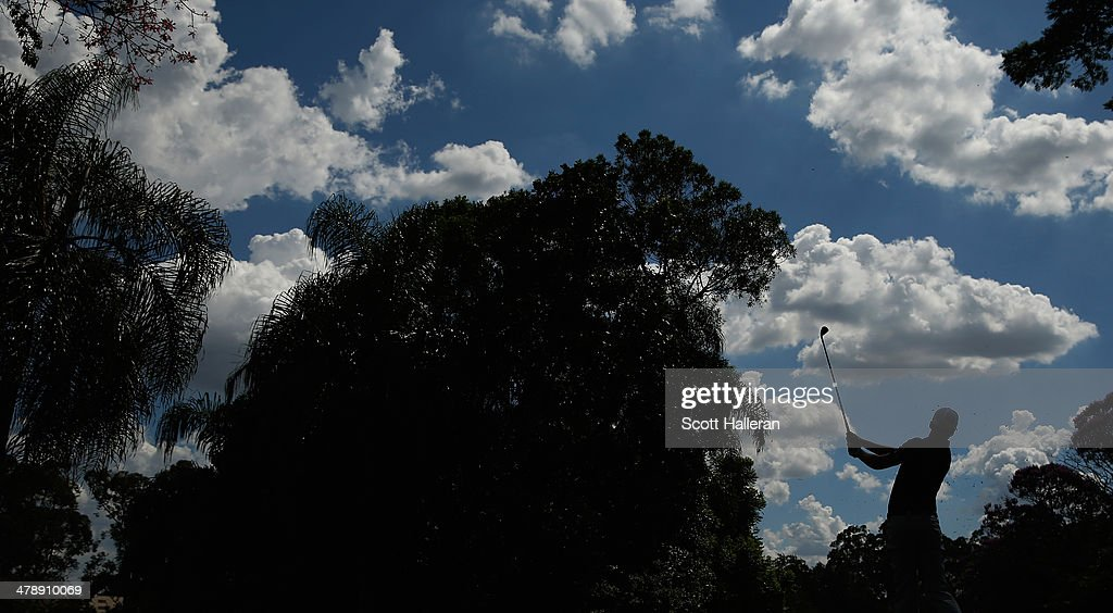 Daniel Berger of the USA hits his tee shot on the seventh hole during the third round of the 2014 Brasil Champions Presented by HSBC at the Sao Paulo Golf Club on March 15, 2014 in San Paulo, Brazil.