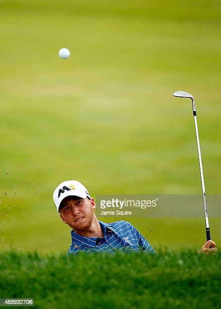 Daniel Berger plays his second shot on the 15th hole during the Second Round of the BMW Championship at Conway Farms Golf Club on September 18 2015...
