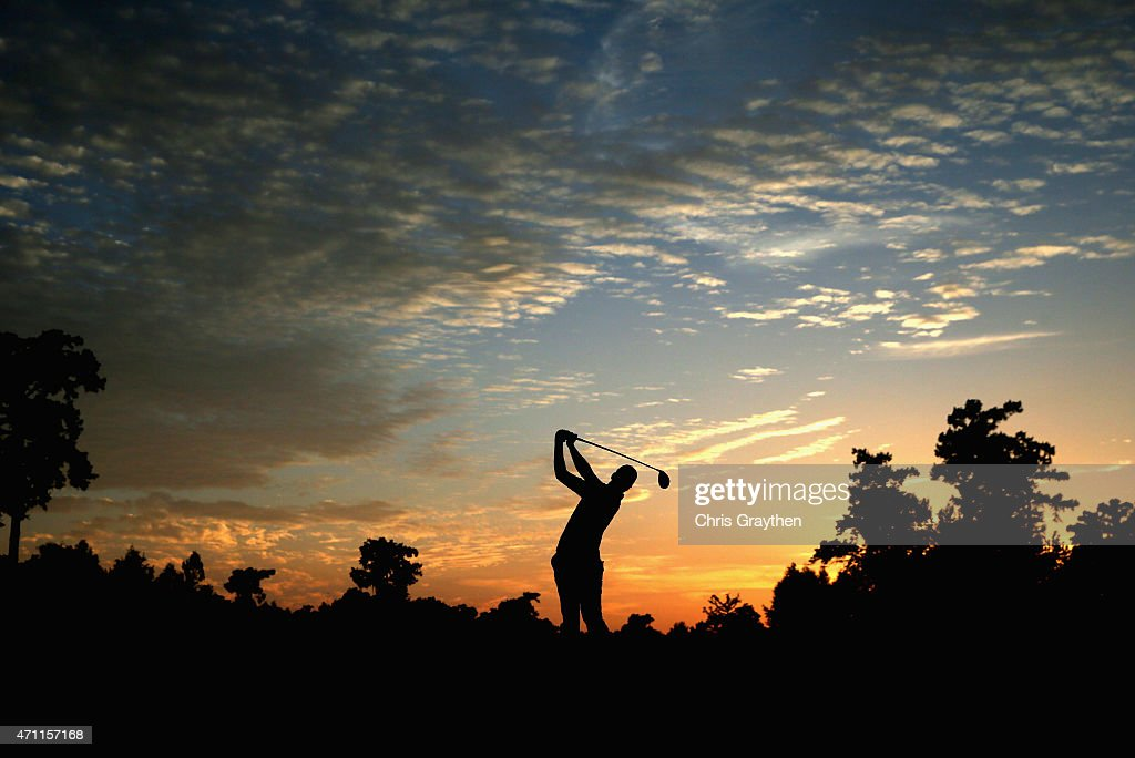 Daniel Berger tees off on the fourth hole during round three of the Zurich Classic of New Orleans at TPC Louisiana on April 25 2015 in Avondale...