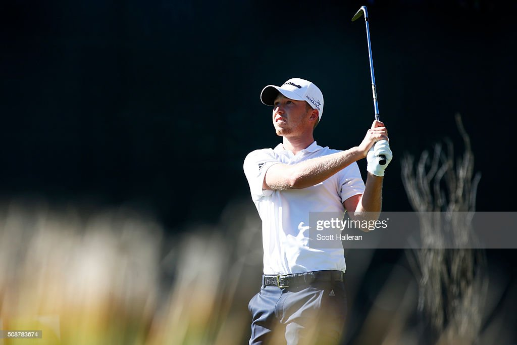 <a gi-track='captionPersonalityLinkClicked' href=/galleries/search?phrase=Daniel+Berger+-+Golfer&family=editorial&specificpeople=14310901 ng-click='$event.stopPropagation()'>Daniel Berger</a> tees off ont he 16th hole during the third round of the Waste Management Phoenix Open at TPC Scottsdale on February 6, 2016 in Scottsdale, Arizona.