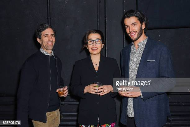Daniel Bittencourt Vivanne Bittencourt and Vincent Katz attend The Wooster Group's 2017 Benefit Hosted by Maura Tierney on March 15 2017 in New York...