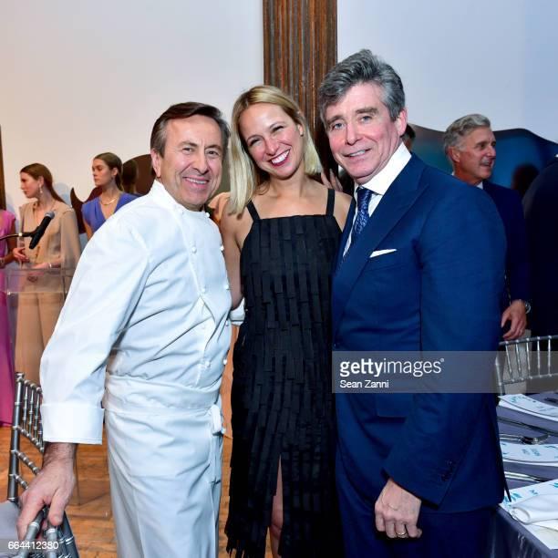 Daniel Boulud Misha Nonoo and Jay McInerney attend the New York Academy of Art Tribeca Ball Honoring Will Cotton at New York Academy of Art on April...