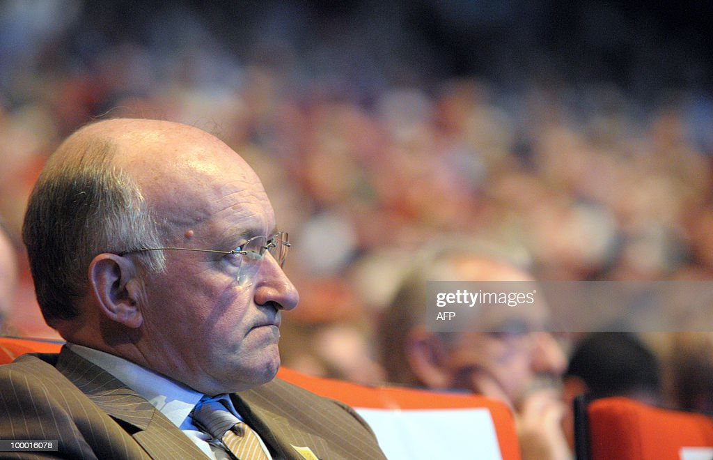 Daniel Bouton, Chairman of French bank Societe Generale attends French Oil group Total general meeting on May 16, 2008 in Paris.