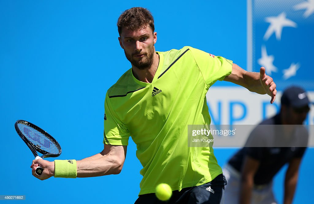 Daniel Brands of Germany during a qualifying match ahead of the AEGON Championships at Queens Club on June 8 2014 in London England