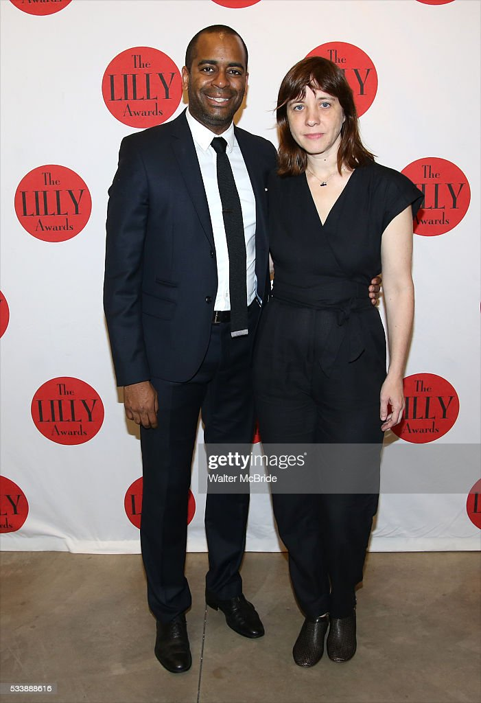 Daniel Breaker and Kate Whoriskey attend The 7th Annual Lilly Awards at Signature Theatre on May 23 2016 in New York City