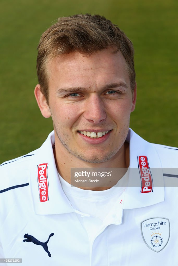 Daniel Briggs of Hampshire during the Hampshire CCC Photocall at the Ageas Bowl on April 1 2015 in Southampton England