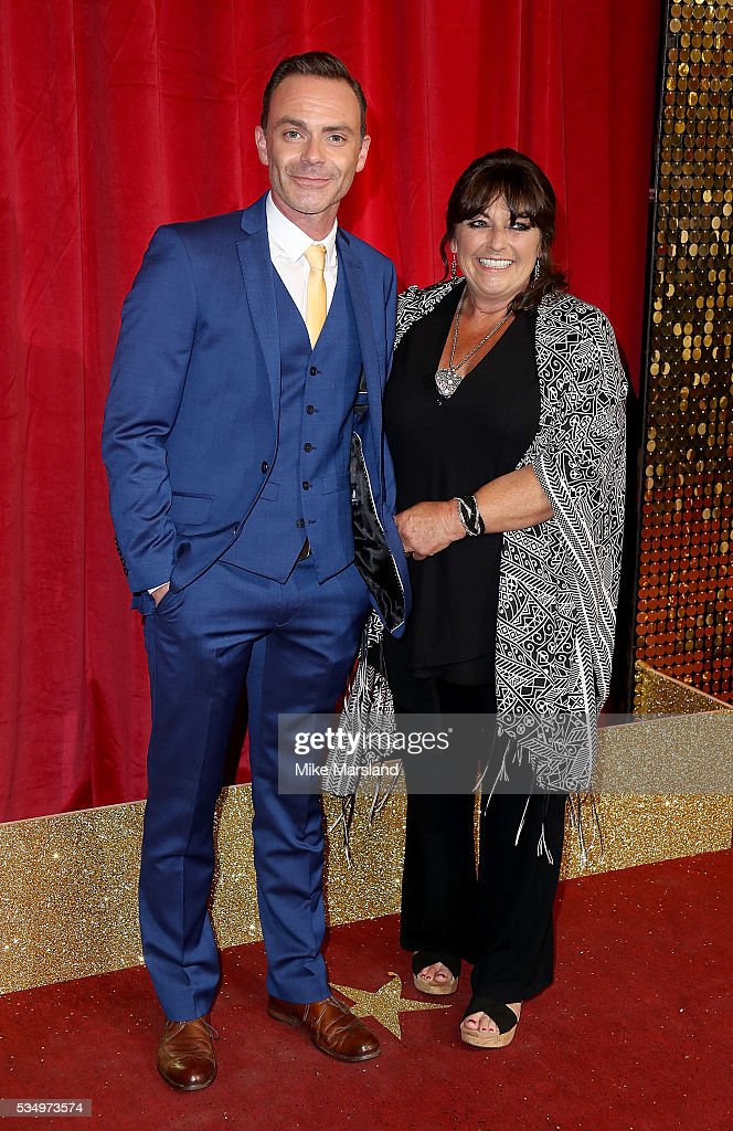 Daniel Brocklebank and mother Tracy Brocklebank attend the British Soap Awards 2016 at Hackney Empire on May 28, 2016 in London, England.