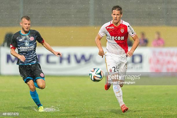 Daniel Brosinski of 1 FSV Mainz 05 and Mario Pasalic of AS Monaco in action during the preseason friendly match between 1 FSV Mainz 05 and AS Monaco...