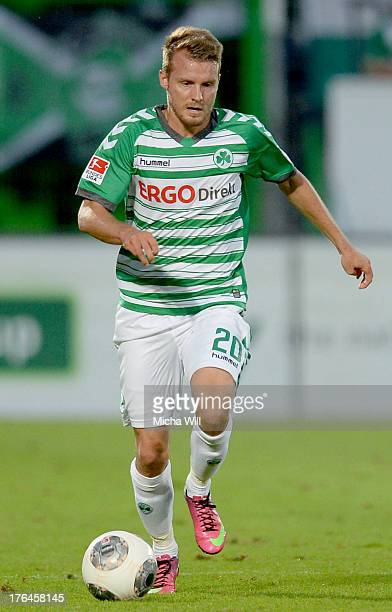 Daniel Brosinski of Fuerth runs with the ball during the second Bundesliga match between SpVgg Greuther Fuerth and 1 FC Kaiserslautern at TrolliArena...