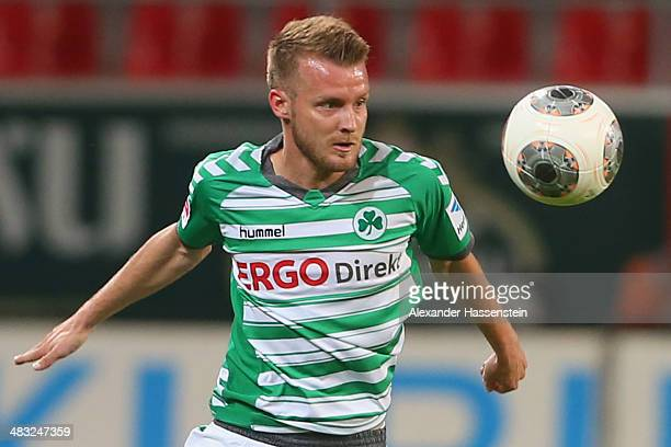 Daniel Brosinski of Greuther Fuerth runs with the ball during the Second Bundesliga match between FC Ingolstadt and Greuther Fuerth at Audi Sportpark...