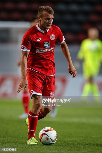 Daniel Brosinski of Mainz controls the ball during the Friendly Match between 1 FSV Mainz 05 and Lazio Roma at Bruchweg Stadion on July 29 2015 in...