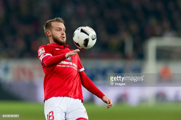 Daniel Brosinski of Mainz in action during the Bundesliga match between 1 FSV Mainz 05 and Borussia Dortmund at the Opel Arena on January 29 2017 in...