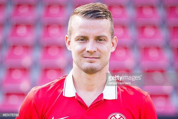 Daniel Brosinski poses during the 1 FSV Mainz Team Presentation at Coface Arena on July 18 2014 in Mainz Germany