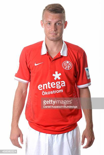 Daniel Brosinski poses during the DFL Media Day of 1 FSV Mainz 05 at Coface Arena on July 18 2014 in Mainz Germany
