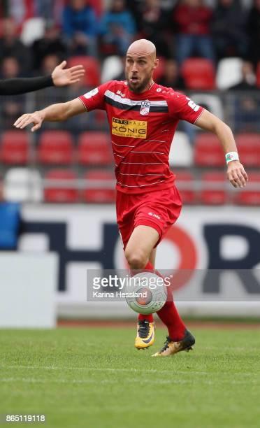 Daniel Brueckner of Erfurt during the 3Liga match between FC RotWeiss Erfurt and Hallescher FC at Arena Erfurt on October 21 2017 in Erfurt Germany