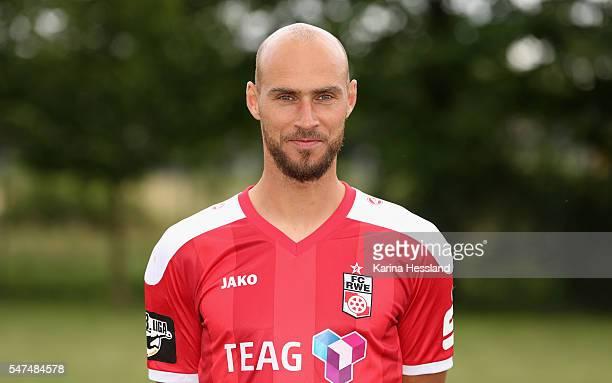Daniel Brueckner of RW Erfurt during the Team Presentation of FC Rot Weiss Erfurt on July 14 2016 in Weissensee Germany