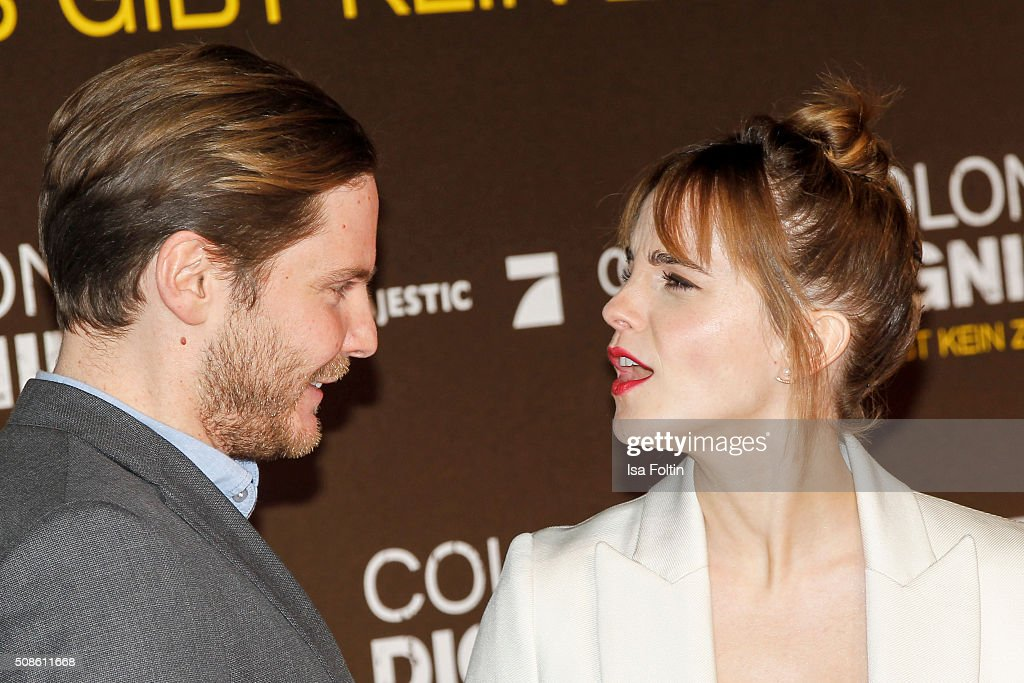 <a gi-track='captionPersonalityLinkClicked' href=/galleries/search?phrase=Daniel+Bruehl&family=editorial&specificpeople=240493 ng-click='$event.stopPropagation()'>Daniel Bruehl</a> and <a gi-track='captionPersonalityLinkClicked' href=/galleries/search?phrase=Emma+Watson&family=editorial&specificpeople=171373 ng-click='$event.stopPropagation()'>Emma Watson</a> attend the 'Colonia Dignidad - Es gibt kein zurueck' Berlin Premiere on February 05, 2016 in Berlin, Germany.