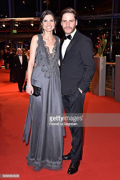 Daniel Bruehl and Felicitas Rombold attend the 'Hail Caesar' premiere during the 66th Berlinale International Film Festival Berlin at Berlinale...