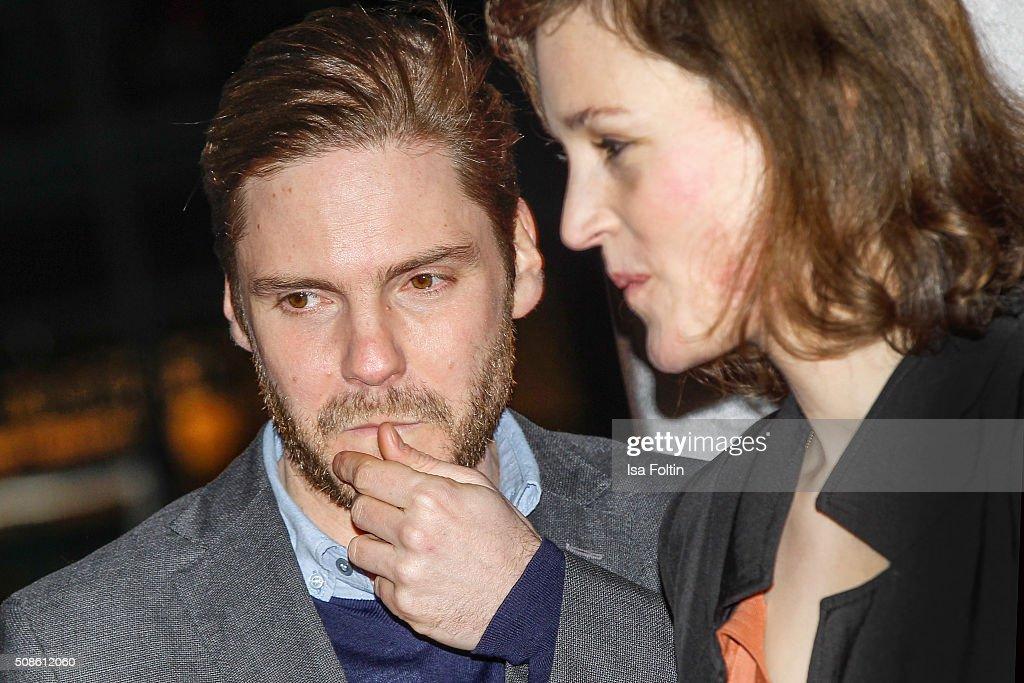 Daniel Bruehl and Vicky Krieps attend the 'Colonia Dignidad - Es gibt kein zurueck' Berlin Premiere on February 05, 2016 in Berlin, Germany.