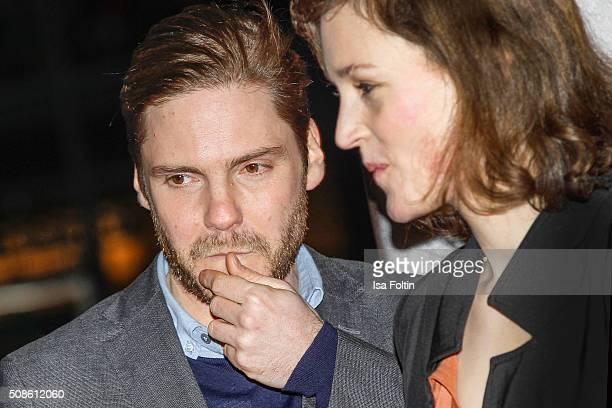 Daniel Bruehl and Vicky Krieps attend the 'Colonia Dignidad Es gibt kein zurueck' Berlin Premiere on February 05 2016 in Berlin Germany