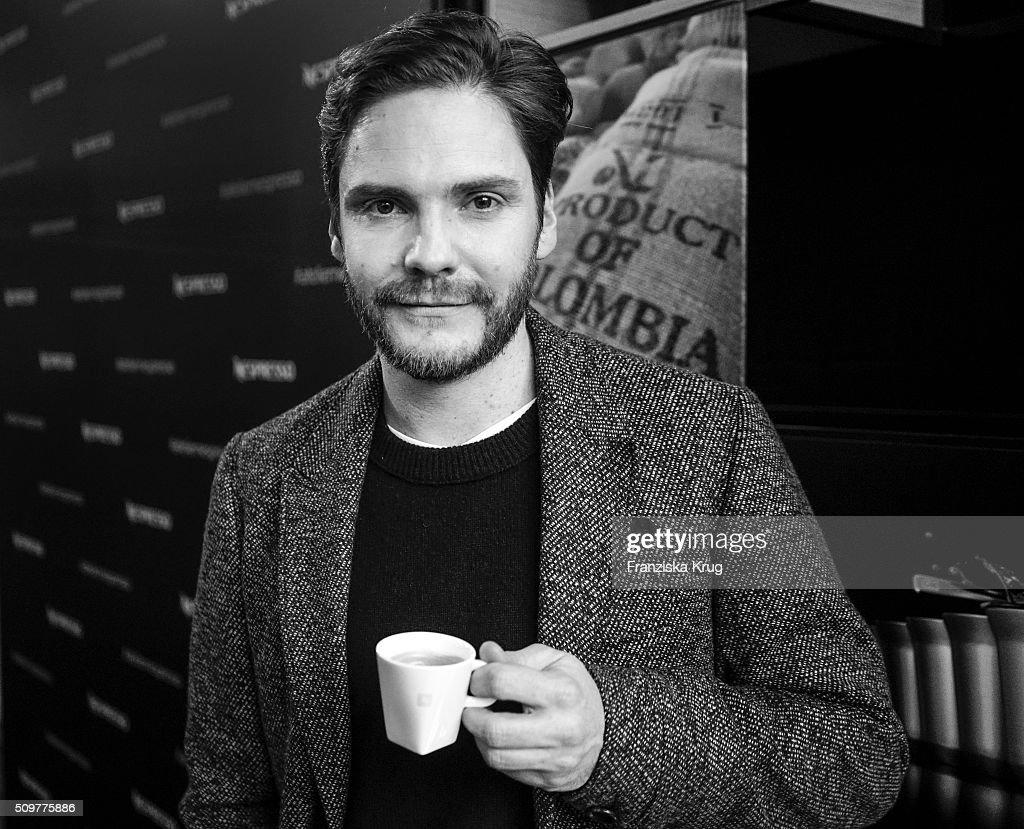 Daniel Bruehl attends the Nespresso 'Auf einen Kaffee mit...' on February 12, 2016 in Berlin, Germany.