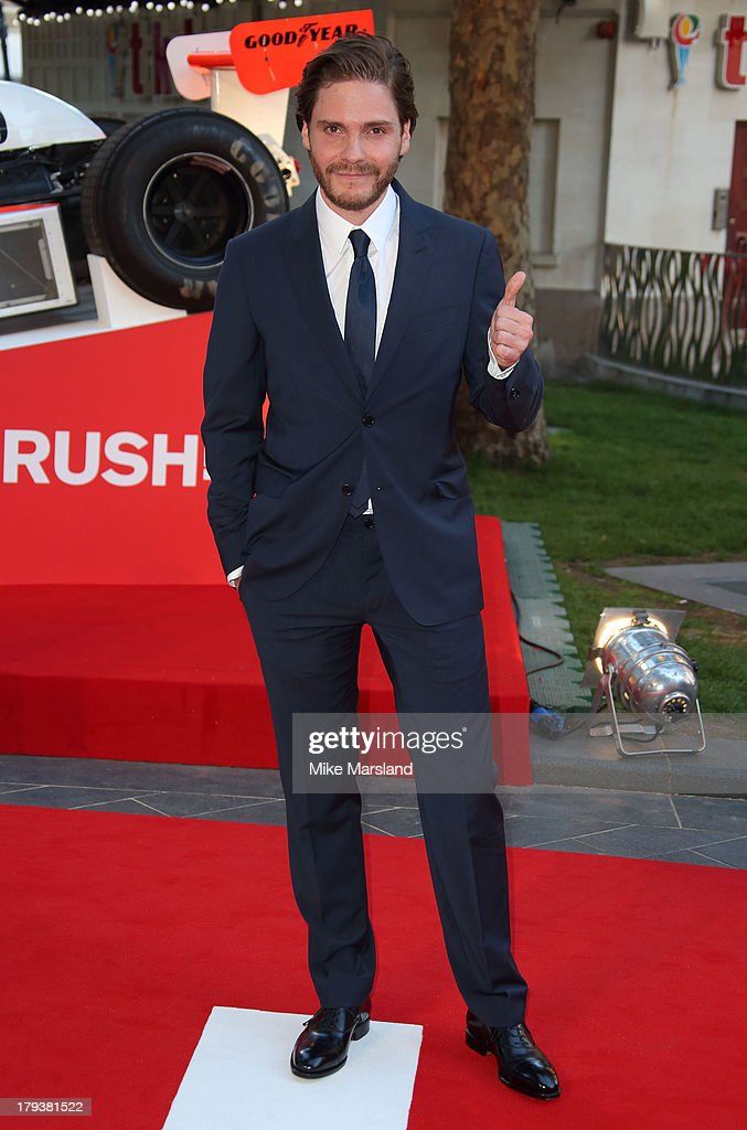 Daniel Bruehl attends the World Premiere of 'Rush' at Odeon Leicester Square on September 2, 2013 in London, England.
