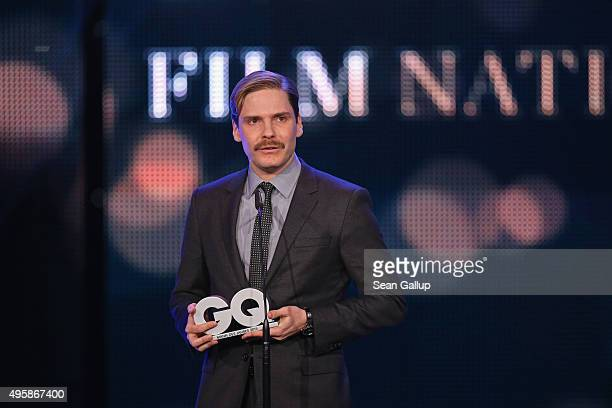 Daniel Bruehl is seen on stage at the GQ Men of the year Award 2015 show at Komische Oper on November 5 2015 in Berlin Germany