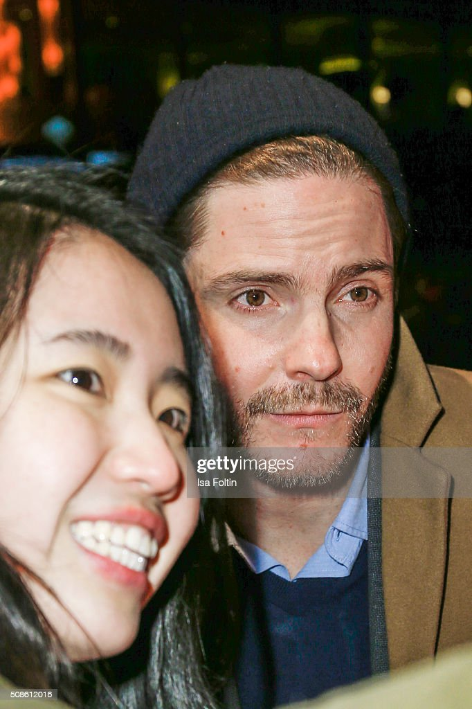 Daniel Bruehl with a fan during the 'Colonia Dignidad - Es gibt kein zurueck' Berlin Premiere on February 05, 2016 in Berlin, Germany.