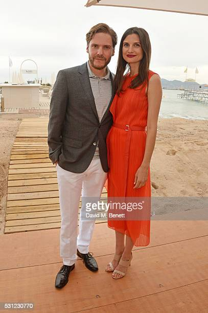 Daniel Bruhl and Felicitas Rombold attend the Focus Features Toast during the Cannes Film Festival 2016 on May 13 2016 in Cannes France