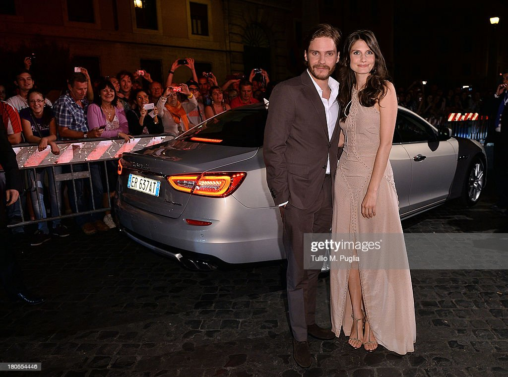 Daniel Bruhl and girlfriend Felicitas Rombold attend 'Rush' The Movie Rome Premiere at Auditorium della Conciliazione on September 14, 2013 in Rome, Italy.