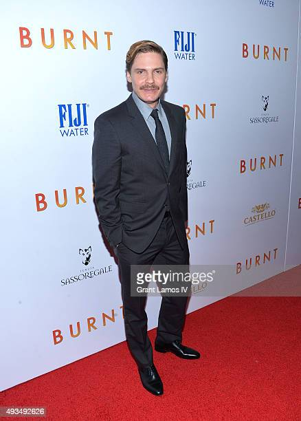 Daniel Bruhl attends the 'Burnt' premiere at The Museum of Modern Art on October 20 2015 in New York City
