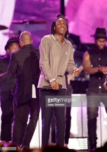 Daniel Caesar performs onstage at the 2017 Soul Train Awards presented by BET at the Orleans Arena on November 5 2017 in Las Vegas Nevada