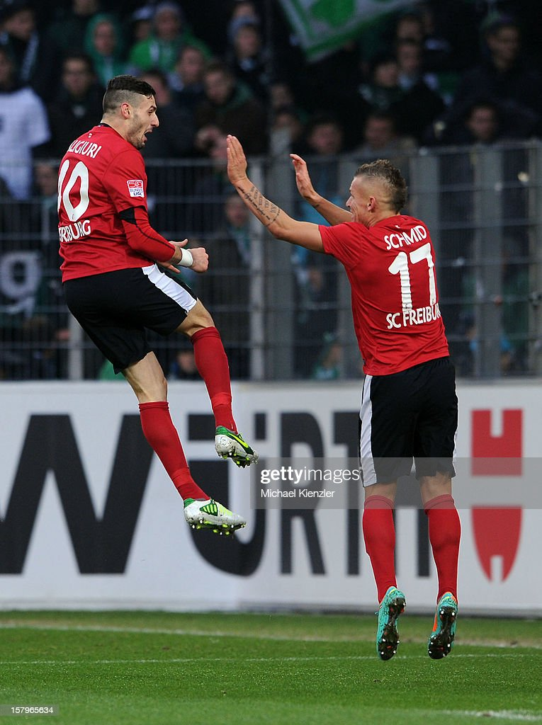 0 with Jonathan Schmidt during the Bundesliga match between SC Freiburg and SpVgg Greuther Fuerth at Mage Solar Stadium on December 8, 2012 in Freiburg, Germany.