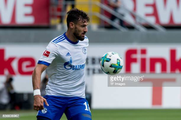 Daniel Caligiuri of Schalke controls the ball during the preseason friendly match between SC Paderborn and FC Schalke 04 at BentelerArena on July 15...