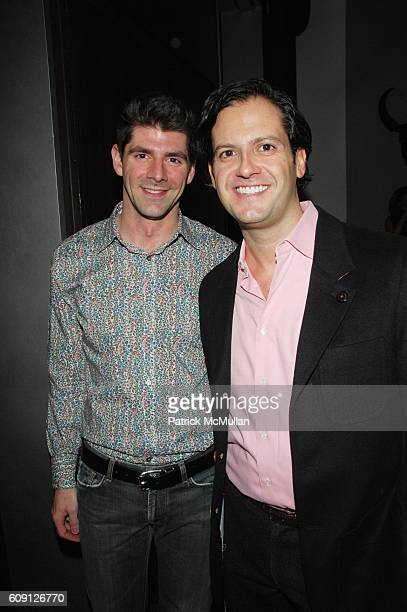 Daniel Cappello and Raul Barreneche attend Emma SnowdonJones and Antony Todd host private kickoff of the Lady DJ Series at THOM Bar Thompson Hotel...