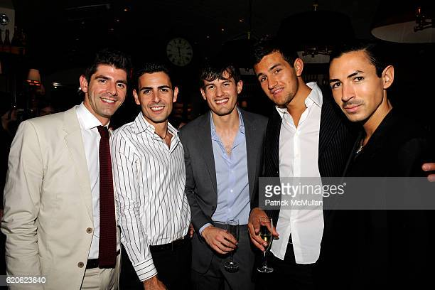 Daniel Cappello Guillermo Chevez Michel Heredia Max Lecki and Christian Cota attend YAZ and VALENTINE HERNANDEZ Private Dinner for CHRISTIAN COTA at...