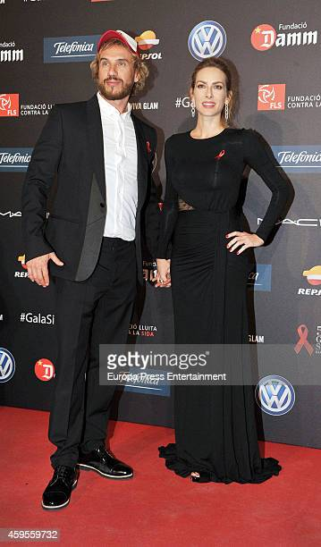 Daniel Carbonell 'Macaco' and Kira Miro attend 'Fifth Gala Against HIV 2014' on November 24 2014 in Barcelona Spain