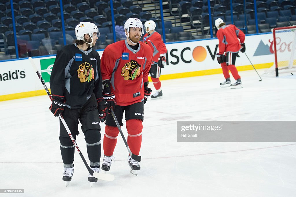 ... usa home jersey 2015 nhl stanley cup final practice sessions. daniel  carcillo 13 and brad 2fef88371