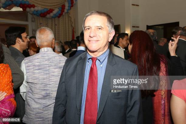 Daniel Carmon during the celebration of the National Day of Russia hosted by the Embassy of the Russian Federation on June 12 2017 in New Delhi India...