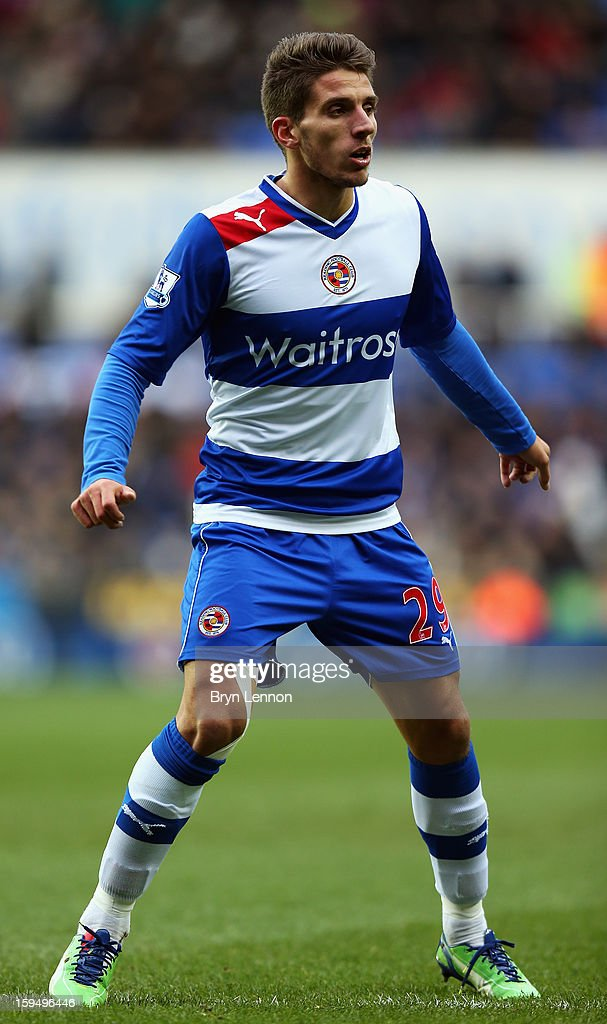 Daniel Carrico of Reading in action during the Barclays Premier League match between Reading and West Ham United at the Madejski Stadium on January 12, 2013 in Reading, England.